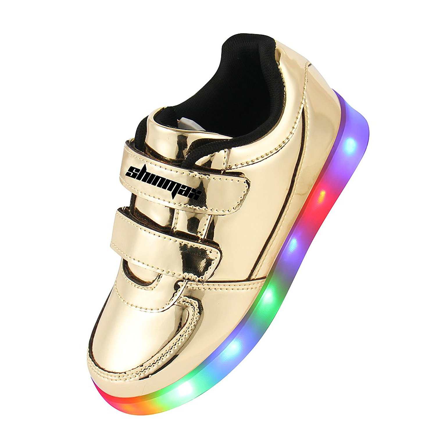 88488d800b436a Shinmax Golden Kindheit-Serie LED Schuhe Multi Color USB-Lade Kid ...