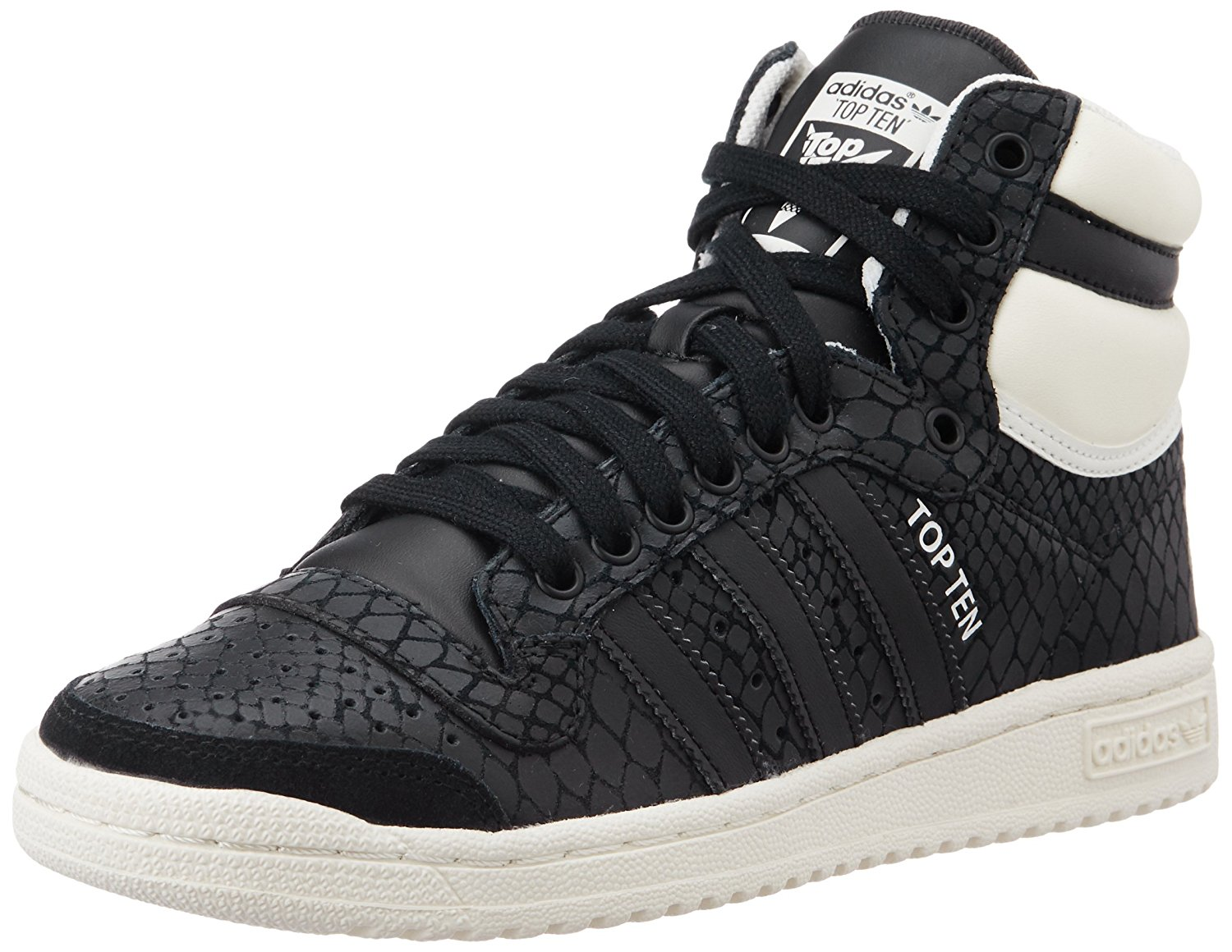 best service 63646 c025f adidas Damen Top Ten Hi Basketballschuhe 40 2 3 EUSchwarz (Core Black Core  Black Off White) - sommerprogramme.de